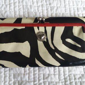 Brighton Black & White striped wallet